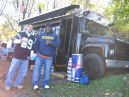 Havin' a cold one by the Tailgating Bus