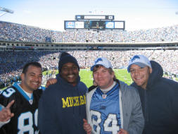 a pic with some detroit Lions fans