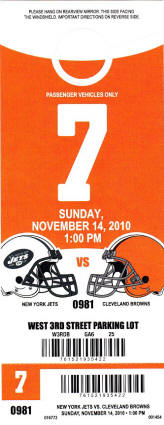 Cleveland Browns Parking Pass
