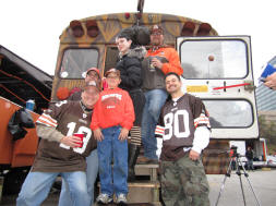 This Browns Bus has Balls
