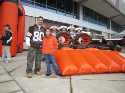 Inflatable Cleveland Browns Obstacle Challenge