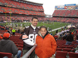 Annabella and I at Cleveland Browns Stadium