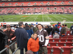 Fifty Yard Line at Cleveland Browns Stadium