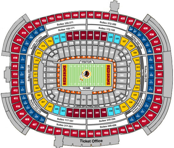 Redskin stadium seat chart timiz conceptzmusic co