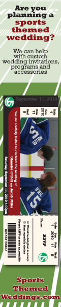 Hockey Themed Wedding Invitation