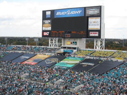 Masked off sections at EverBank Field