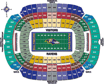 Nfl football stadiums baltimore ravens stadium m t for Restaurants m t bank stadium