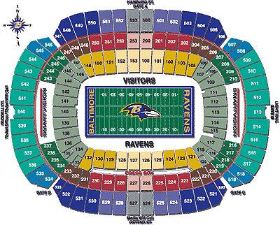 Restaurants M T Bank Stadium Of Nfl Football Stadiums Baltimore Ravens Stadium M T