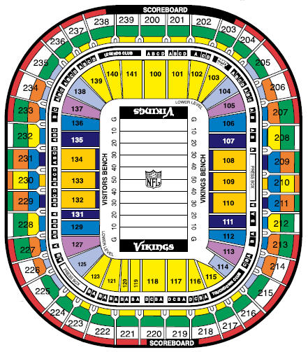 metrodome seating chart portrayal