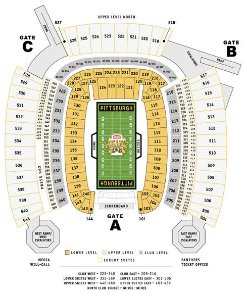 Heinz Field NFL Seating Chart