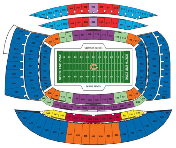 Soldier Field Seating Chart - Chicago Bears