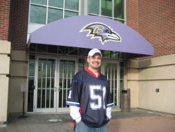 Checking out the Ravens offices