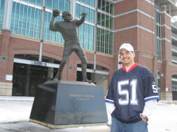 Baltimore Ravens Fan with Johnny Unitas