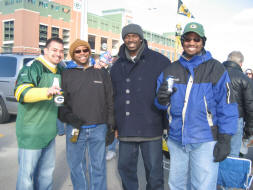 Myself, TJ, Dante, and Jamin at Lambeau Field