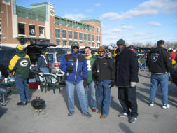 Green Bay Packers Tailgating in Title-town