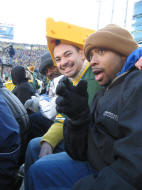 Me and TJ watching the Green Bay Packers