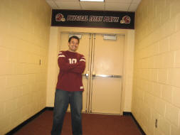 Outside the Washington Redskins Locker Room