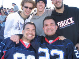 a pic with the fellas in Ralph Wilson Stadium