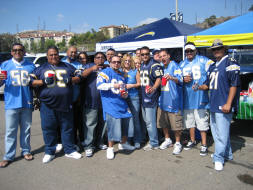 San Diego Charger Tailgating