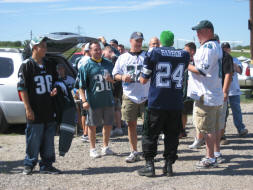 Hanging with the Eagles Fans