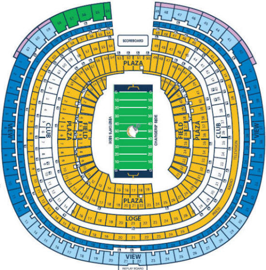 San Diego Chargers Football Field: Cheap San Diego Chargers Tickets